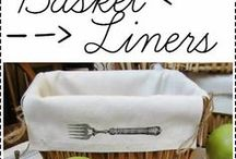 Wicker basket liners