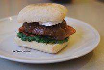 Nos burgers, bagels et wraps / Burger; bagel; wrap