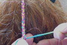 Hair braids - wool