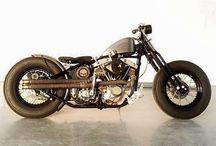Custom, bobber, vintage bike.