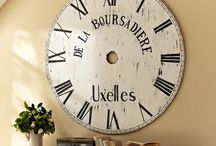 OVERSIZED CLOCKS / I kinda have an obsession with large wall clocks!  / by Hannah {We Lived Happily Ever After}