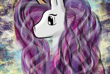 selfmate / Unicorn, Univers, Art, digital, Photoshop, with mouse