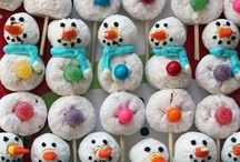snowmen / snowman cookies, snowman cakes, snow snowmen, snowman crafts...snowman apparel, snowman decorations...if it has a snowman on it, and I like it...it goes here.