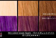 Tintes para el cabello de color púrpura