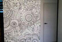 dibujo en paredes