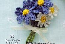 Çiçek yapımı amigurumi