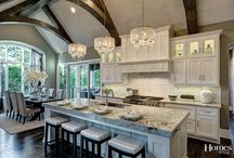 Countertops and cabinet