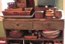 < Old Kitchen Collectibles > / This board will include vintage and primitive kitchen collectibles.   / by Sheepscot River Primitives