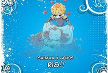 "Saitama x Genos    Doujinshi ""One Punch Man"" : Yaoi World / Images sur le thème du couple yaoi (ou boy's love): Saitama x Genos Anime : One Punch Man"