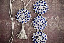 Schemi di gioielli realizzati all'uncinetto