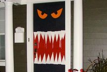 decoración puertas Halloween