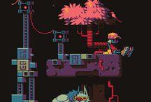 Pixels & cartoon