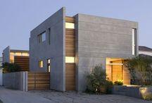 Wood facade house