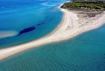 """Beaches in Possidi / Possidi has one amazing beach on the right side of cavo, called """"Aigiopelagitika"""" beach and one beach in front of the village that ends up in a spectacular peninsula of sand inside the crystal clear sea, called """"Miti"""" (nose) beach."""