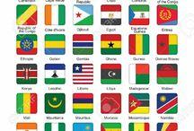 Afrika bayraklar