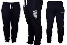 Sweatpants and matching jet black hoodie