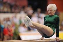 old woman gymnastics