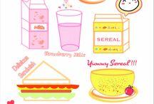 Food Illustrations 2 / #Vector #food #illustrations #design #Breakfast #illustrations #lunch #illustrations #dinner #illustrations