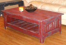 röda soffbord