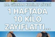 1 haftada 10 kilo diyeti dr.gürkan kubilaydan
