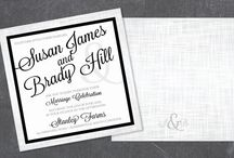 Black &  White Wedding Design / Contact LM Design for custom Wedding Invitation & Stationary Designs & Printing (Including Letterpress)  www.LMDesign.co www.facebook.com/LMDesignsc  Lindsey@LMDesign.co