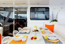 Luxury Catamaran Maitai / The #luxury 74' #catamaran Maitai, built in 2004 by Sunreef Catamaran, is a superbly comfortable 22.5M cat which welcomes up to 9 guests on board with a crew of 4. She is available all year round for charters in the #Caribbean, #France and #Italy and is equipped with AC and also fishing equipment, jetski, kayak, sailing gear, scuba gear, wakeboard and waterski for a wonderful luxury catamaran experience.