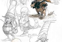 GameArt. Characters. Sketches.