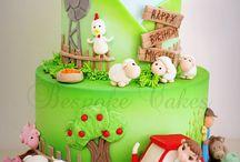 Farm Fondant Cakes