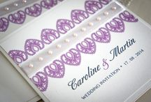 Wedding Stationery - Venice Lace Collection / Our luxury handmade Venice Lace collection is printed on premier pearl cream card decorated with excellent quality pearls and bound with double layers of satin and organza ribbons. www.serendipityweddingdesign.co.uk