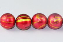 Fancy Glass Beads / These swirl design high quality fancy beads are light weight suitable for any jewellery type. These beads are stunning and smooth textured.