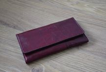 leather long wallet / purse