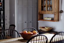 Cozy Dining Decor / Country Colonial Primitive Farmhouse