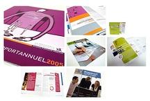design graphique / Réalisation de publications corporate et commerciale