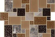 Rock & Ice Collection / A small sample of our Rock and Ice Collection. This collection features mosaics with glass and natural stone.