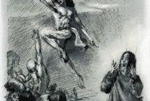 "CLASSIC ILLUSTRATIONS / Classic is... Immortal. Classic illustrations with very precious brush techniques.  All illustrations from ""IL DIZIONARIO INFERNALE"" - (Emporio-ZOE Publishing)"