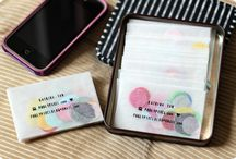 Business: Pretty Business Cards / Inspiration for beautiful business cards. Great for bloggers' cards, small business cards, playdate cards and more.