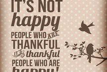 Gratitude  / Being Grateful
