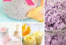 DIY Bath & Beauty / DIY Sugar Scrubs, bath salts, and other DIY bath and beauty products