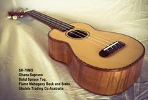 SK-70MG Ohana Soprano ukulele. Solid Spruce Top, Flame Mahogany Back and Sides