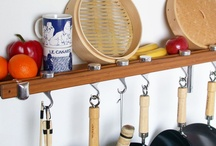 For the Home - Kitchen - Pot rack / by Jennifer Holland