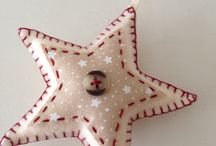 Estrela de feltro para natal