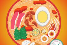 Pixel Art Gallery / These are my pixel art collection #pixelart #fanart #food #anime #manga
