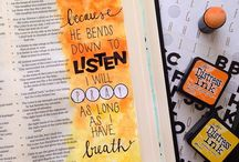 Bible journaling / Ways to keep a bible journal for an inspiration in your life  / by Becky Loyall