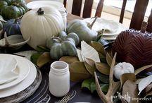LOVING FALL  / Totally into the pale pumpkins... Don't do the traditional Orange pumpkins, great inspirational images!