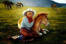 Available Western and Native American - Painter Karen Noles /  Born in 1947 and raised in the very small town of Merna , Nebraska Karen's talent for art was encouraget from a very early age...