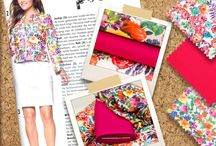 Spring & Summer 2015 / Inspiration boards of our new spring and summer fabric collection.