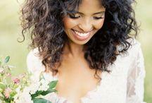 bridal curly hair
