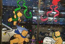 Christmas windows 2015 / Christmas window painting in the New York City area.