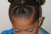 Brown girls hair