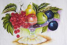 Pintura de frutas e vegetais